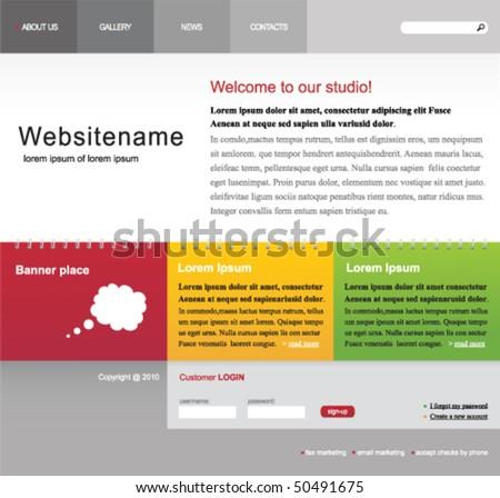 Web site vector template - stock vector