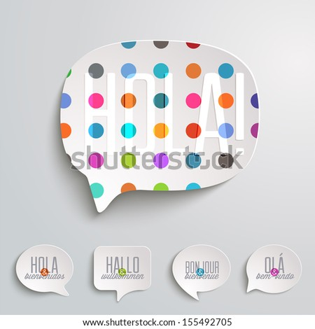 Web Speech Bubbles - stock vector