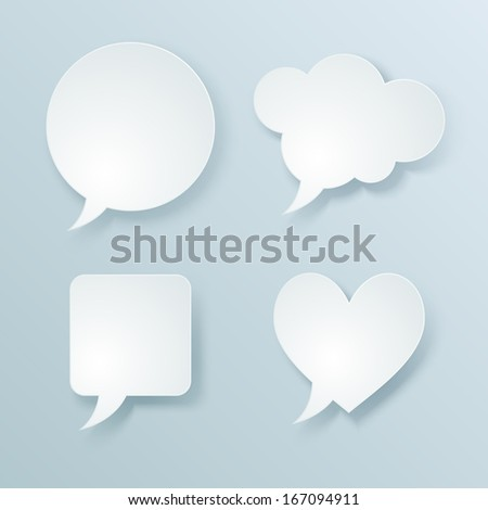 Web speech bubbles. Vector illustration