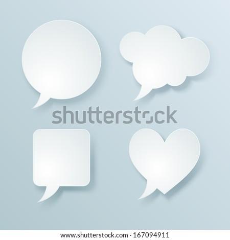 Web speech bubbles. Vector illustration - stock vector