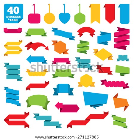 Web stickers, banners, tags and labels. Set of Special offer flat design elements. Great collection for shopping sale. Vector - stock vector