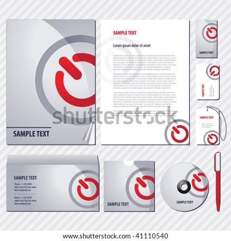 Web style Template for Business artworks. Vector - stock vector