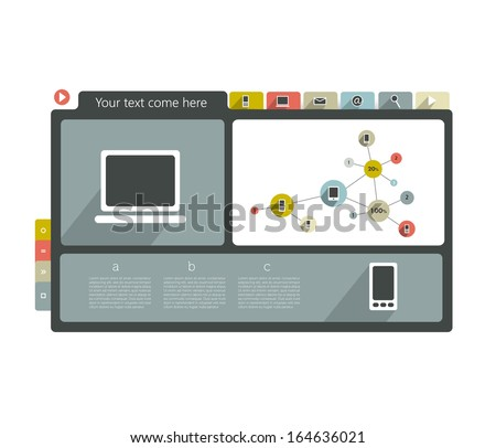 Web template banner. Modern icon collection. - stock vector