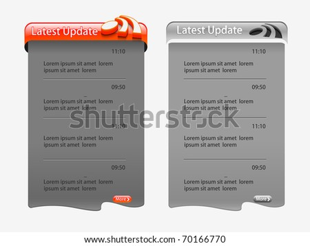 web template element, includes two versions for your web design. - stock vector