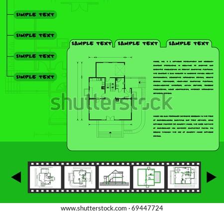 web template. eps10 - stock vector