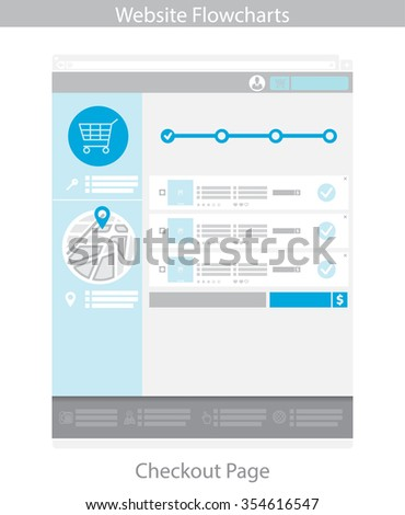 Web Template Simple Vector Checkout Page Stock Photo (Photo, Vector ...