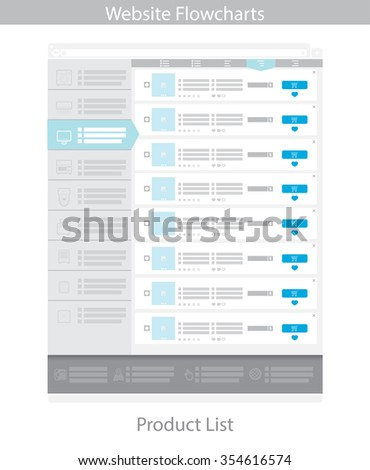 Web Template Simple Vector Product List Stock Vector
