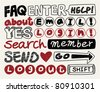 web text element collection ,icon set - stock photo