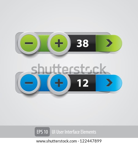 Web UI Elements Design Gray - stock vector