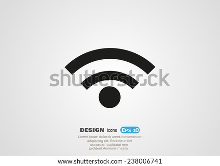 web Us icon. vector design - stock vector