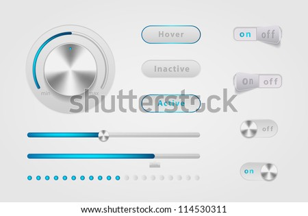 Web User Interface Elements - stock vector