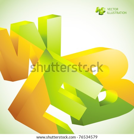 WEB. Vector 3d illustration. Abstract background. - stock vector