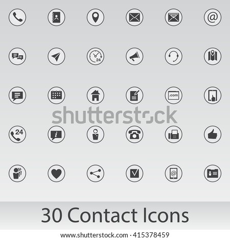 web vector icons set, UI modern solid symbol collection, internet pictogram pack isolated on gray - stock vector