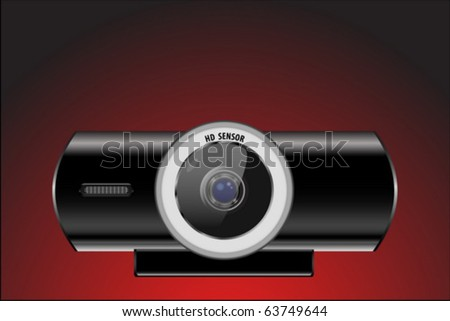webcam - stock vector