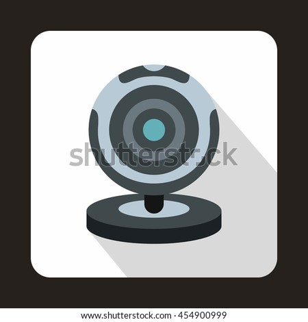 Webcam icon in flat style on a white background