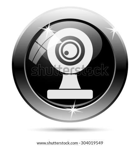 Webcam icon. Internet button on white background. EPS10 vector  - stock vector