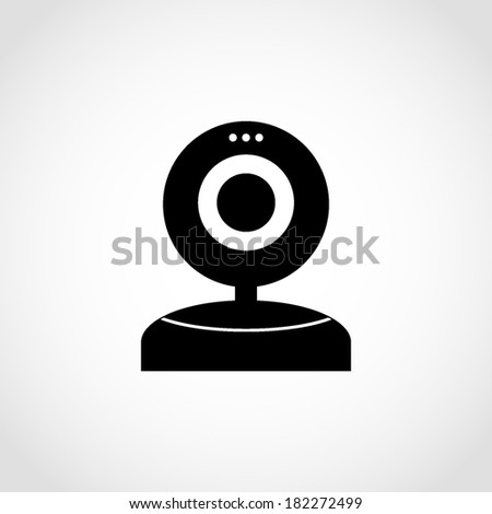 Webcam Icon Isolated on White Background - stock vector