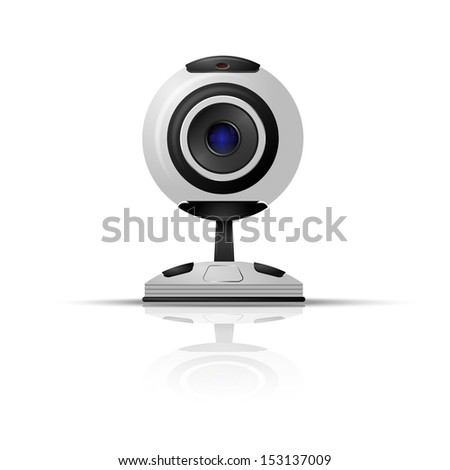 Webcam on a white background