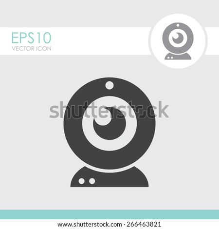 Webcam vector icon. Camera chat symbol. - stock vector