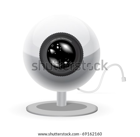 Webcam vector illustration isolated on white background - stock vector