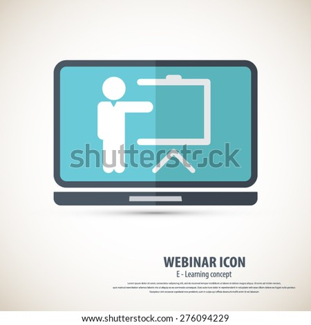 Webinar icon - background.EPS10 vector.All elements of artwork in separate layers.Can be used for any project. - stock vector