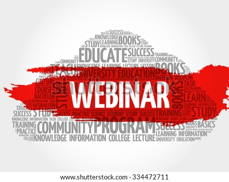 WEBINAR word cloud, education business concept - stock vector