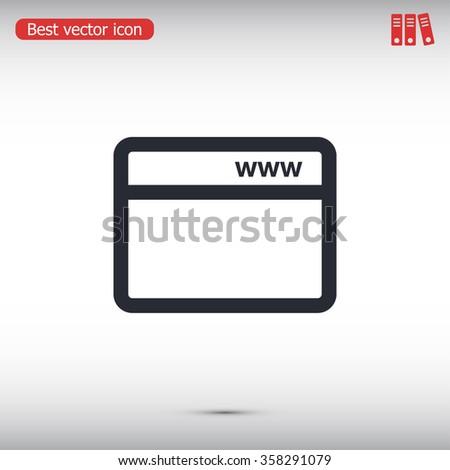 webpage vector icon - stock vector