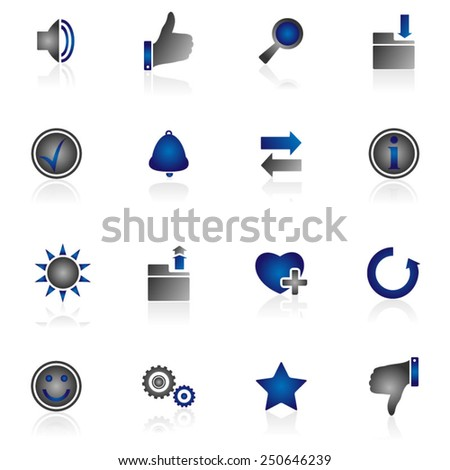 Website and Internet  Icons - stock vector