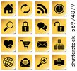 Website and internet icons for your products and designs - stock photo