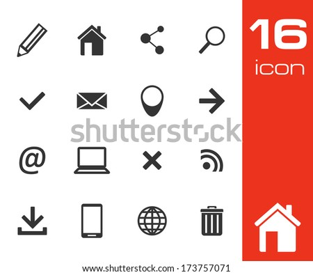 Website and Internet Icons on white background - stock vector