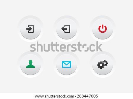 Website & App UI Buttons - stock vector