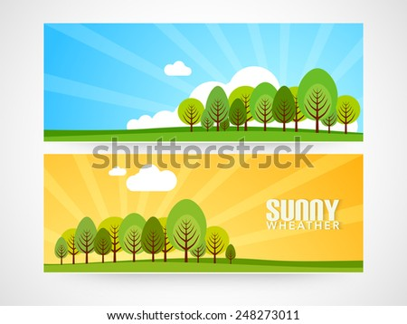 Website banner or header design for vacations. - stock vector