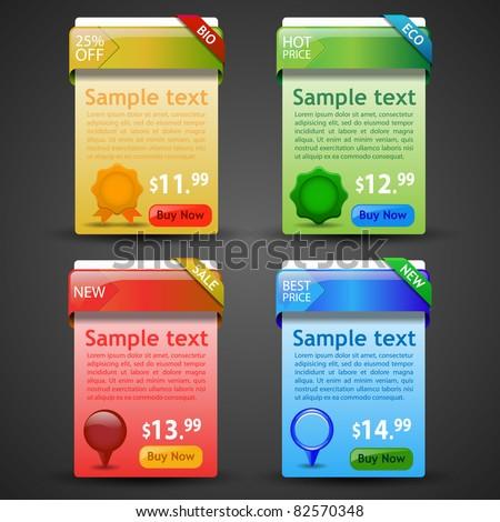 Website Banner Set - stock vector