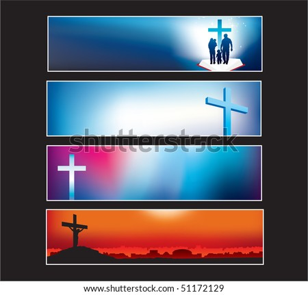 Website banners with space left for message - stock vector