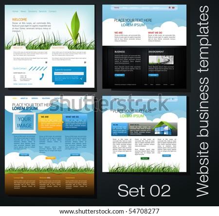 website business templates set 02 - stock vector