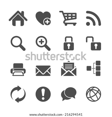 website communication and internet icon set, vector eps10. - stock vector