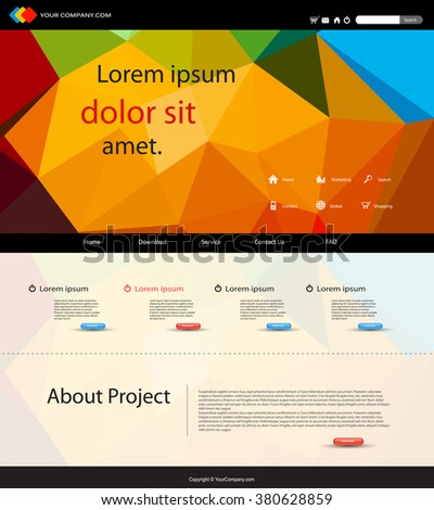 website cover background easy all editable - stock vector
