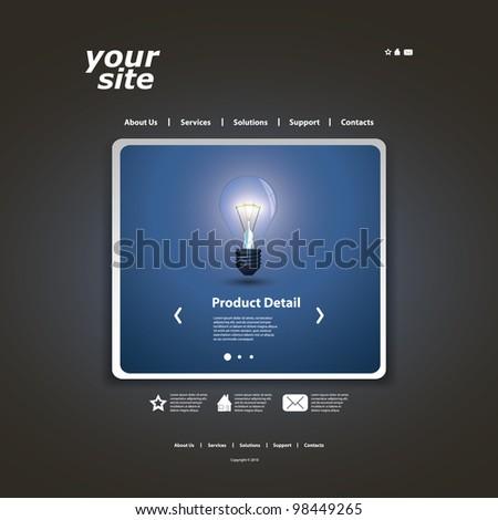 Website Design - stock vector
