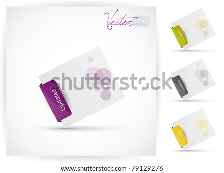Website design element, Vector EPS10. - stock vector