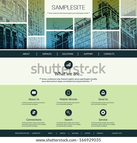 Website Design for Your Business - stock vector
