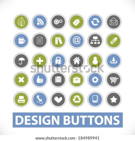 website design icons, buttons set. vector - stock vector