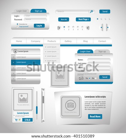 website design template  design  - stock vector