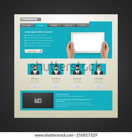 Website design template, vector. - stock vector