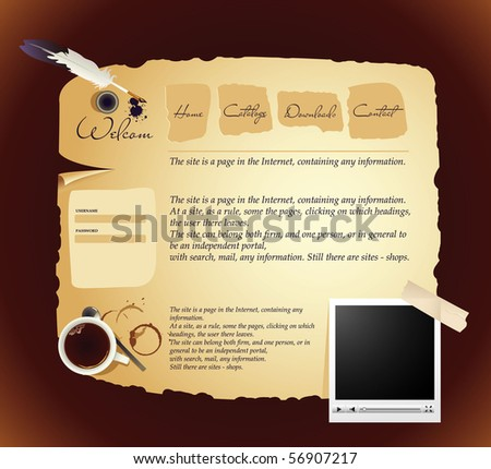 website design template vector - stock vector