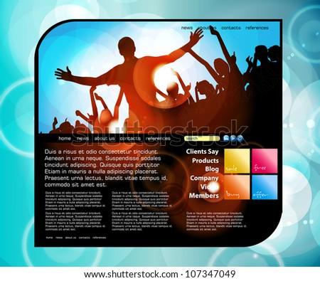 Website design template. Vector illustration - stock vector