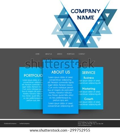 Website design template, Vector illustration. - stock vector