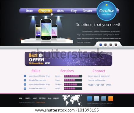 Website design vector elements