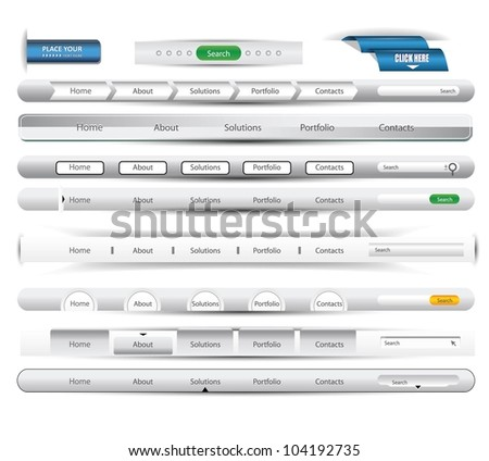 website element - stock vector