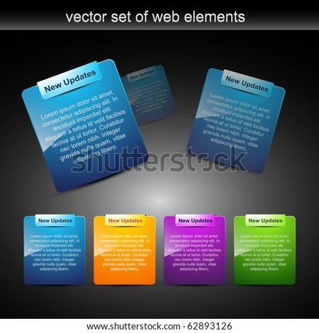 website elements design elements label - stock vector