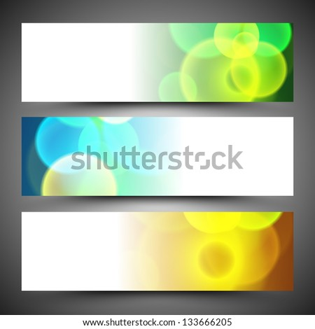 Website header or banner set. - stock vector